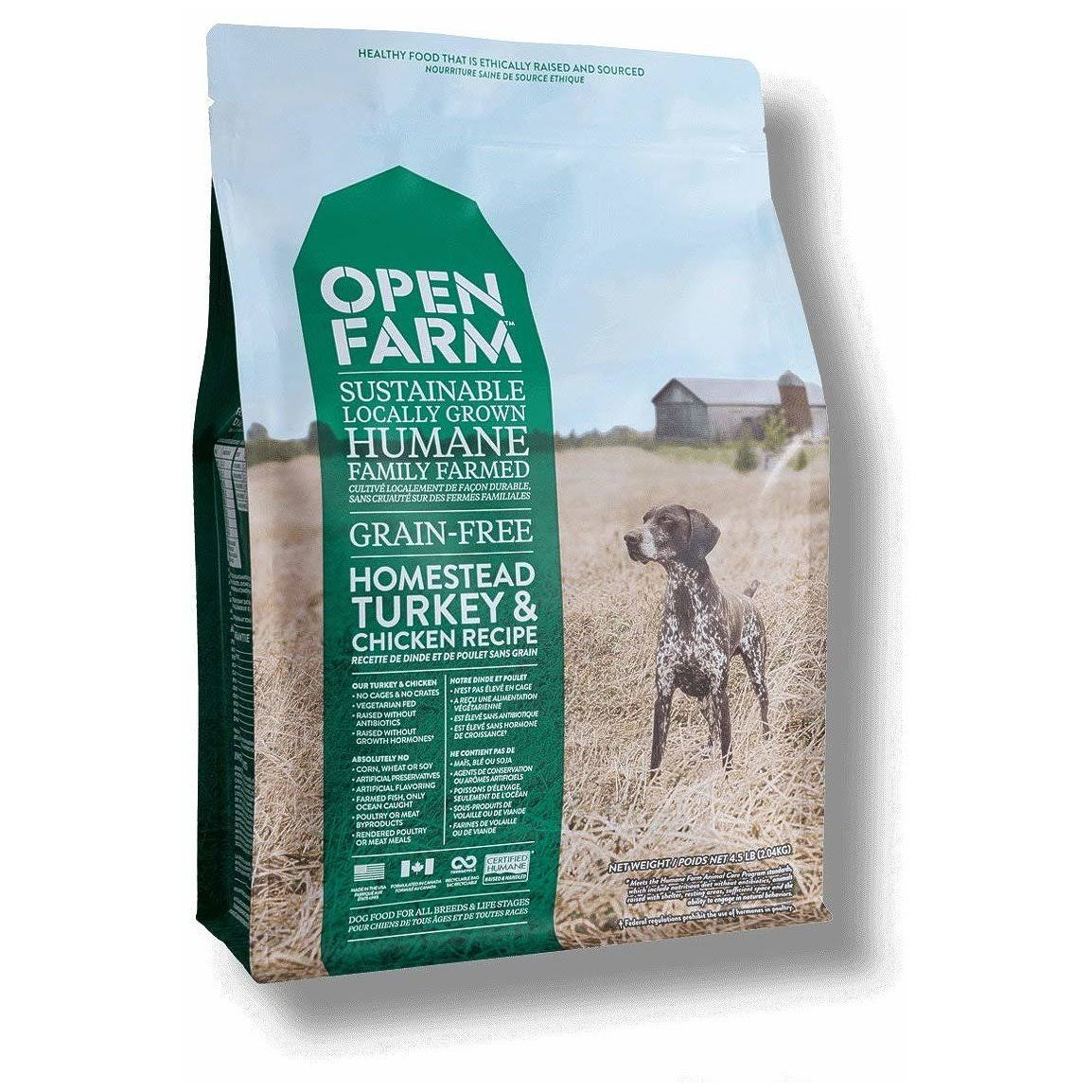 Open Farm Grain-free Adult Dog Dry Food - Turkey & Chicken, 4lb