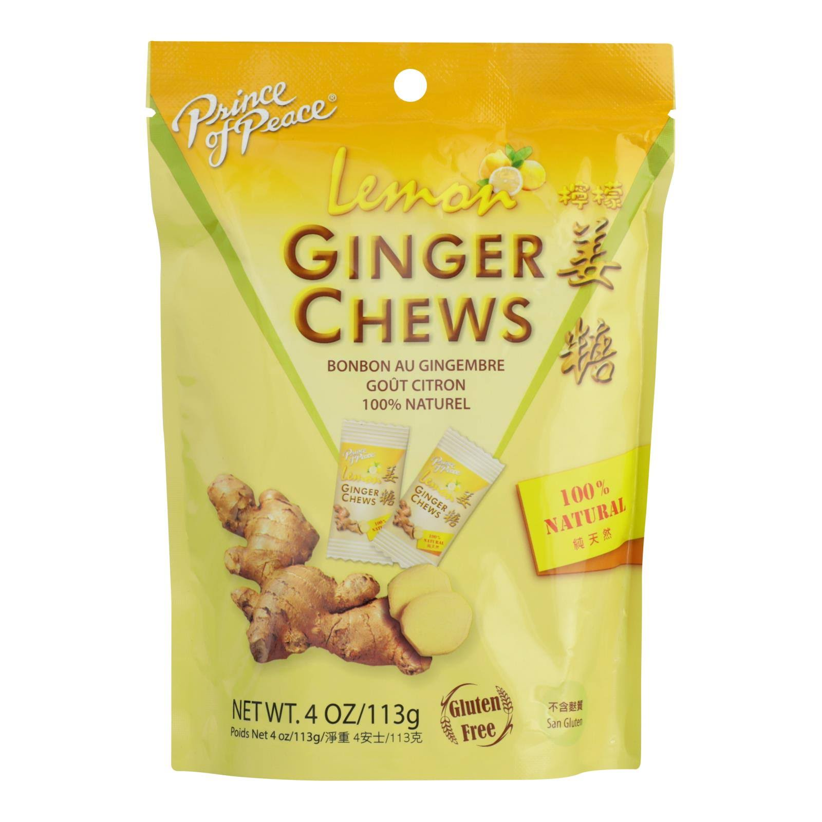 Prince of Peace - Chews Ginger Lemon - 4 oz