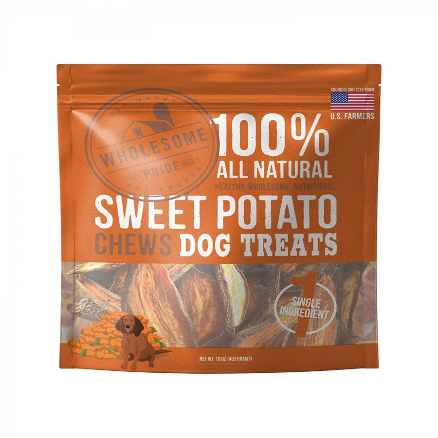 Wholesome Pride 100% All-Natural Sweet Potato Chews Dog Treats