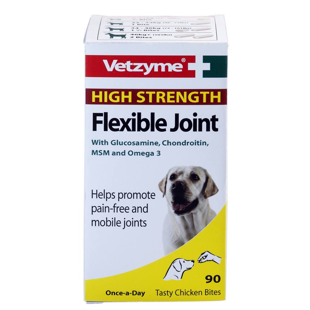Vetzyme Dog High Strength Flexible Joint - 90 tablets