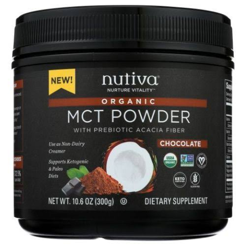 Nutiva Organic MCT Powder - Chocolate - 10.6oz