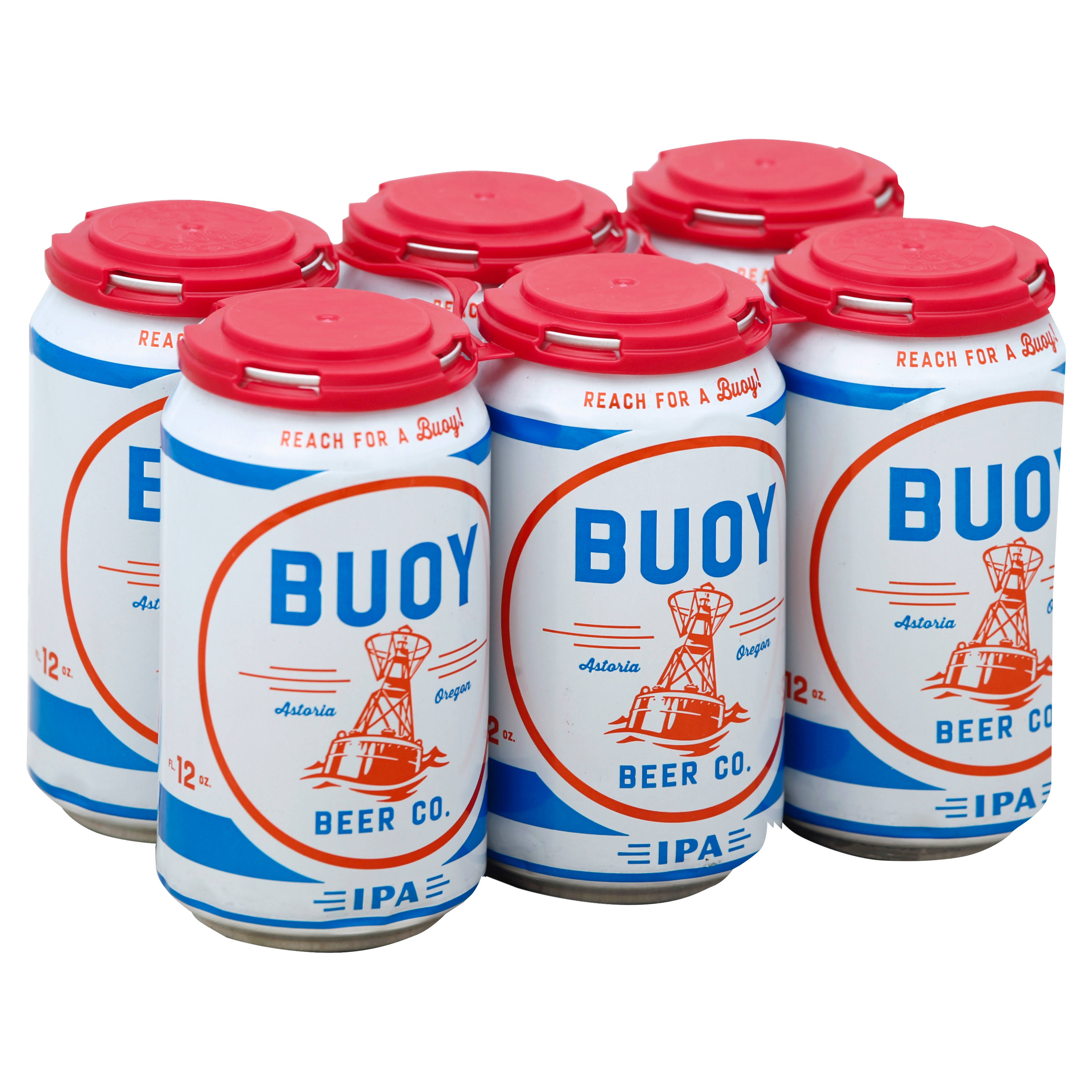 Buoy Beer, IPA - 6 pack, 12 fl oz cans