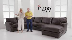 Bobs Furniture Sofa Bed by Ritz Sectionals Bob U0027s Discount Furniture Youtube