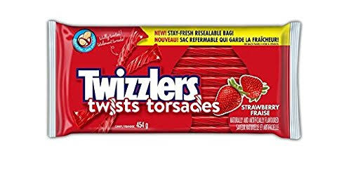 Twizzlers Strawberry Licorice Twists Candy