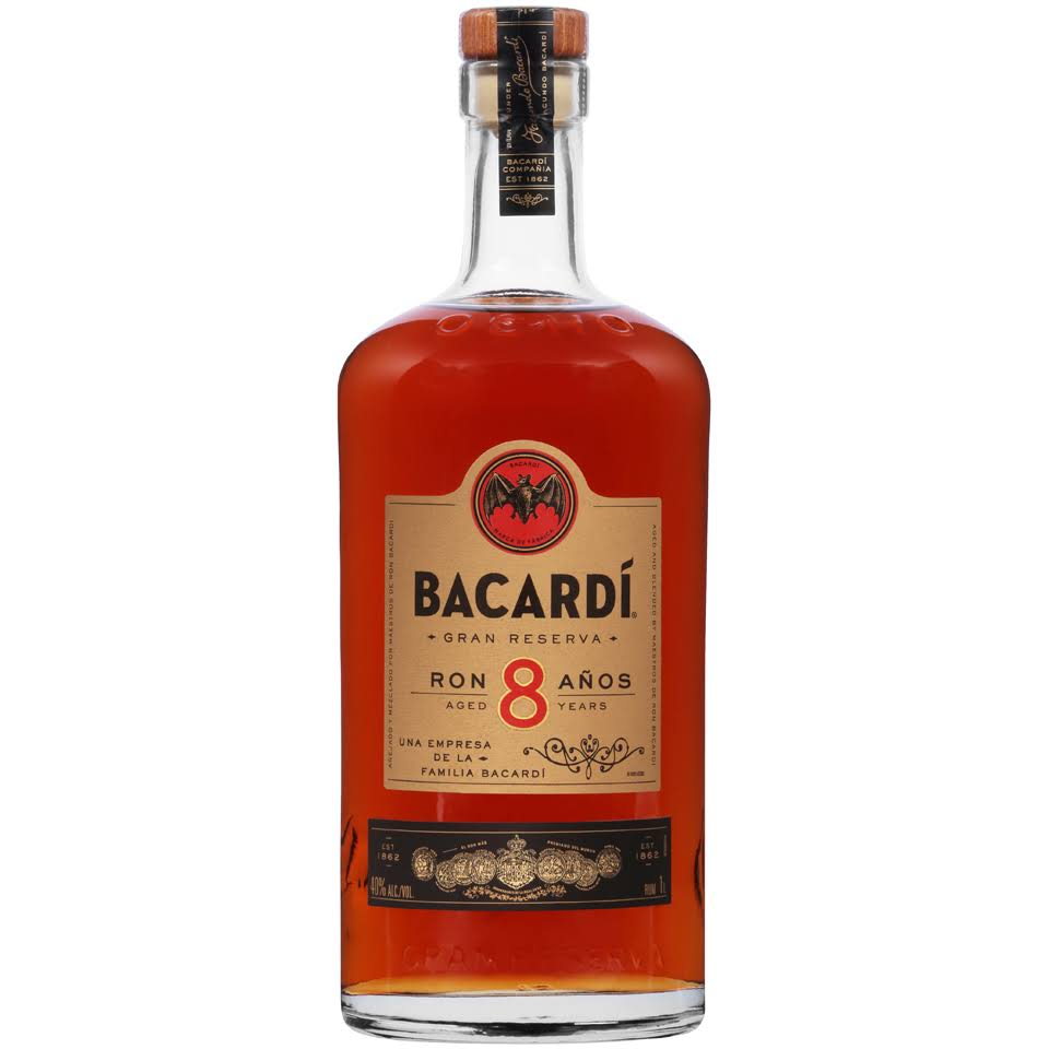 Bacardi 8-Year Rum - 1 L bottle