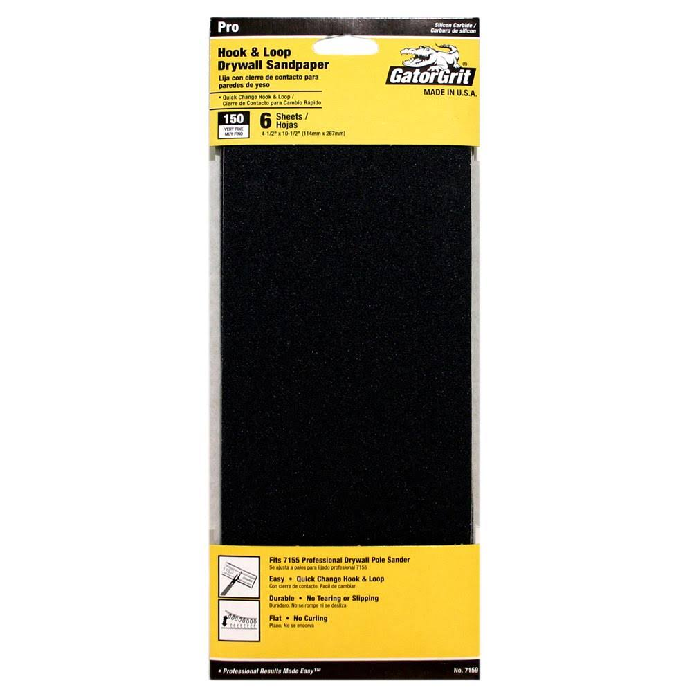 Ali Industries Drywall Refill Sheets - 150 Grit, 6ct