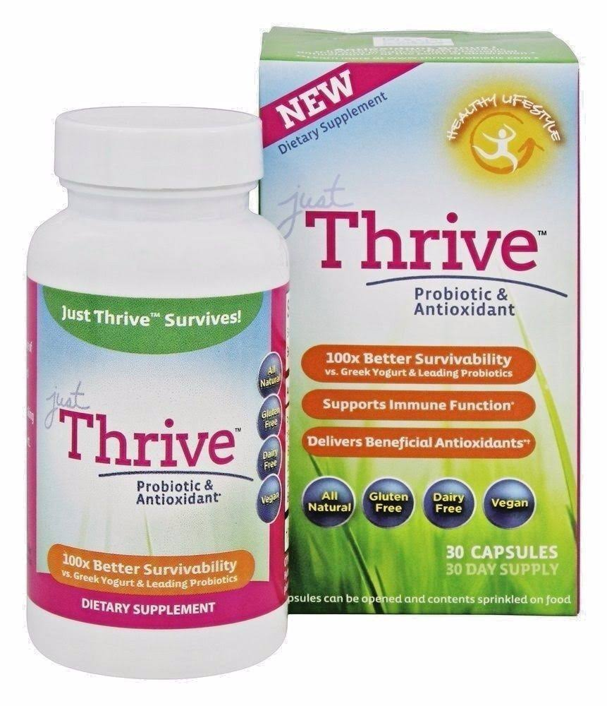 Just Thrive Probiotic and Antioxidant Dietary Supplement - 30 Capsules