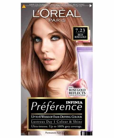 Preference Infinia Permanent Hair Dye - 7.23 Rose Gold Blonde