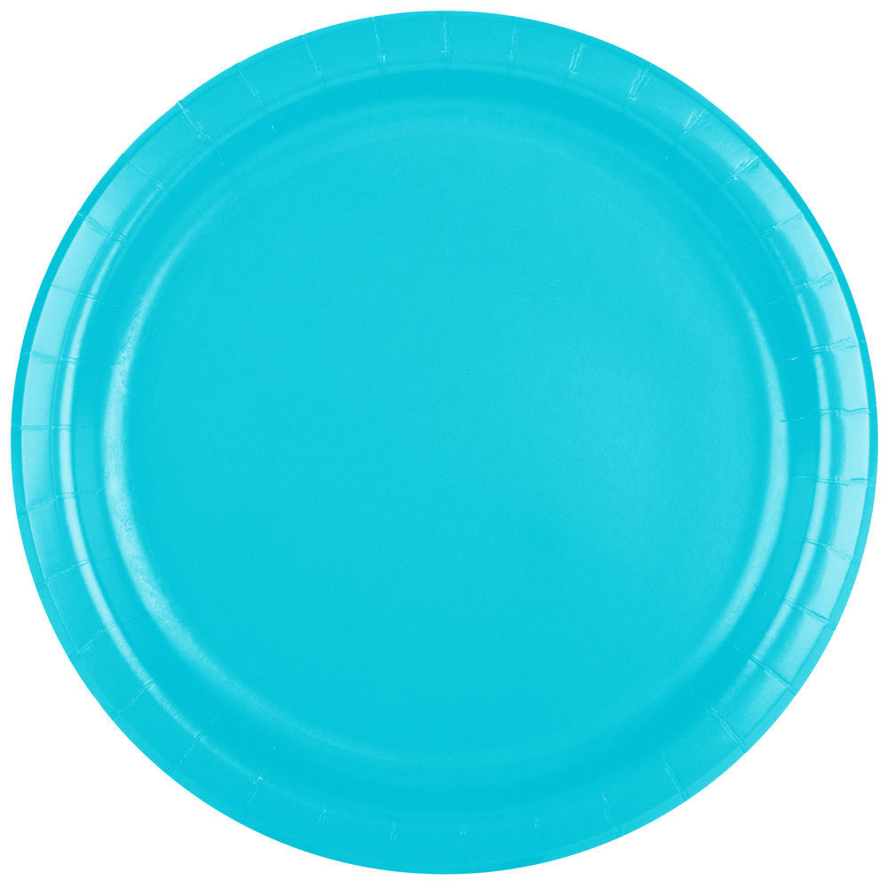 Creative Converting Paper Dinner Plate - Bermuda Blue, 9""