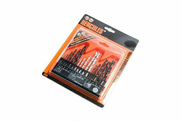 Hercules Combination Drill Set - 16 PC