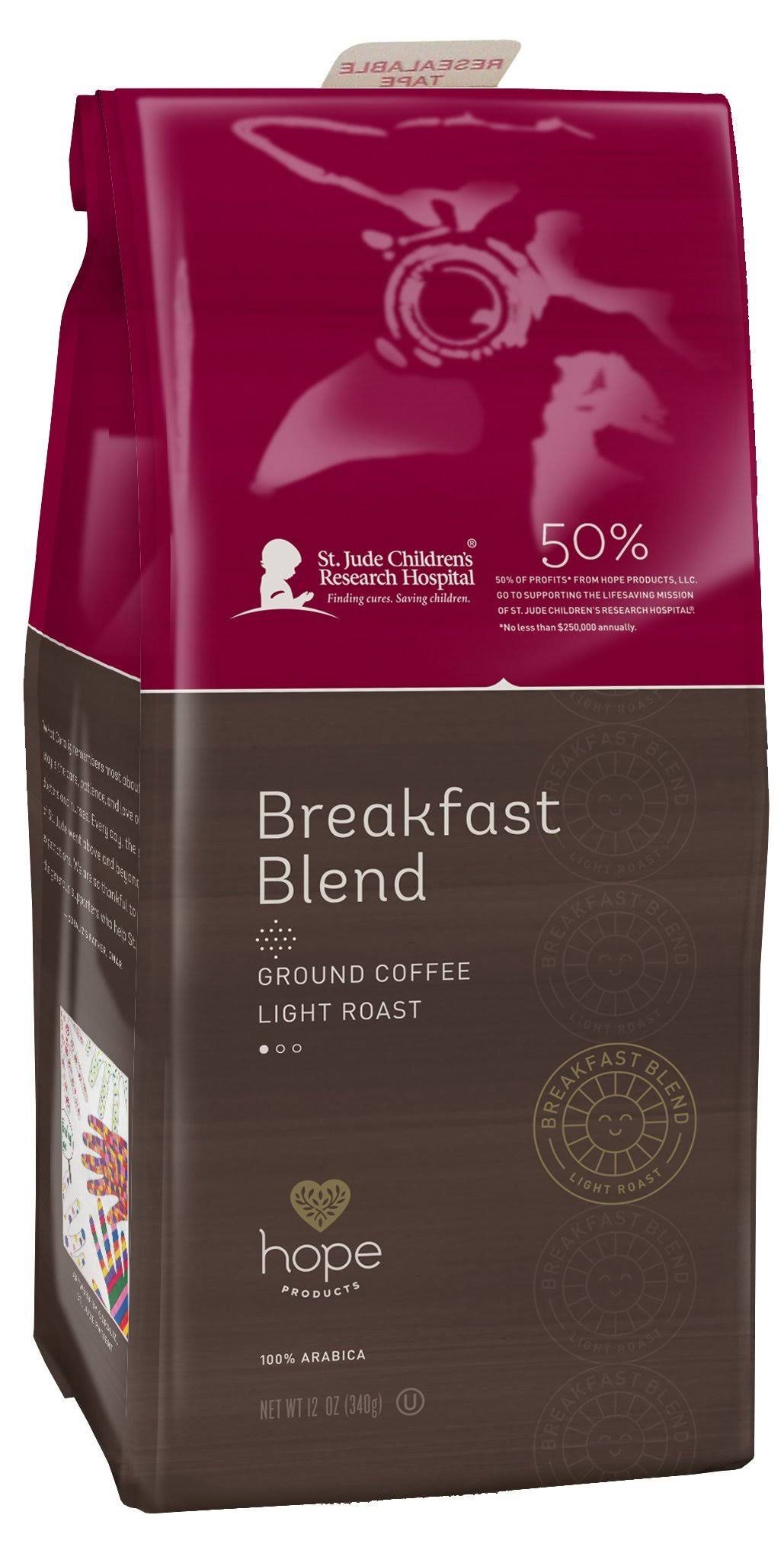 Hope Coffee Breakfast Blend Ground Coffee - 12oz