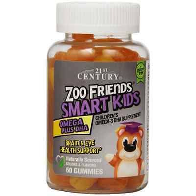 21st Century Zoo Friends Smart Kids Omega Plus DHA Supplement - 60 Gummies