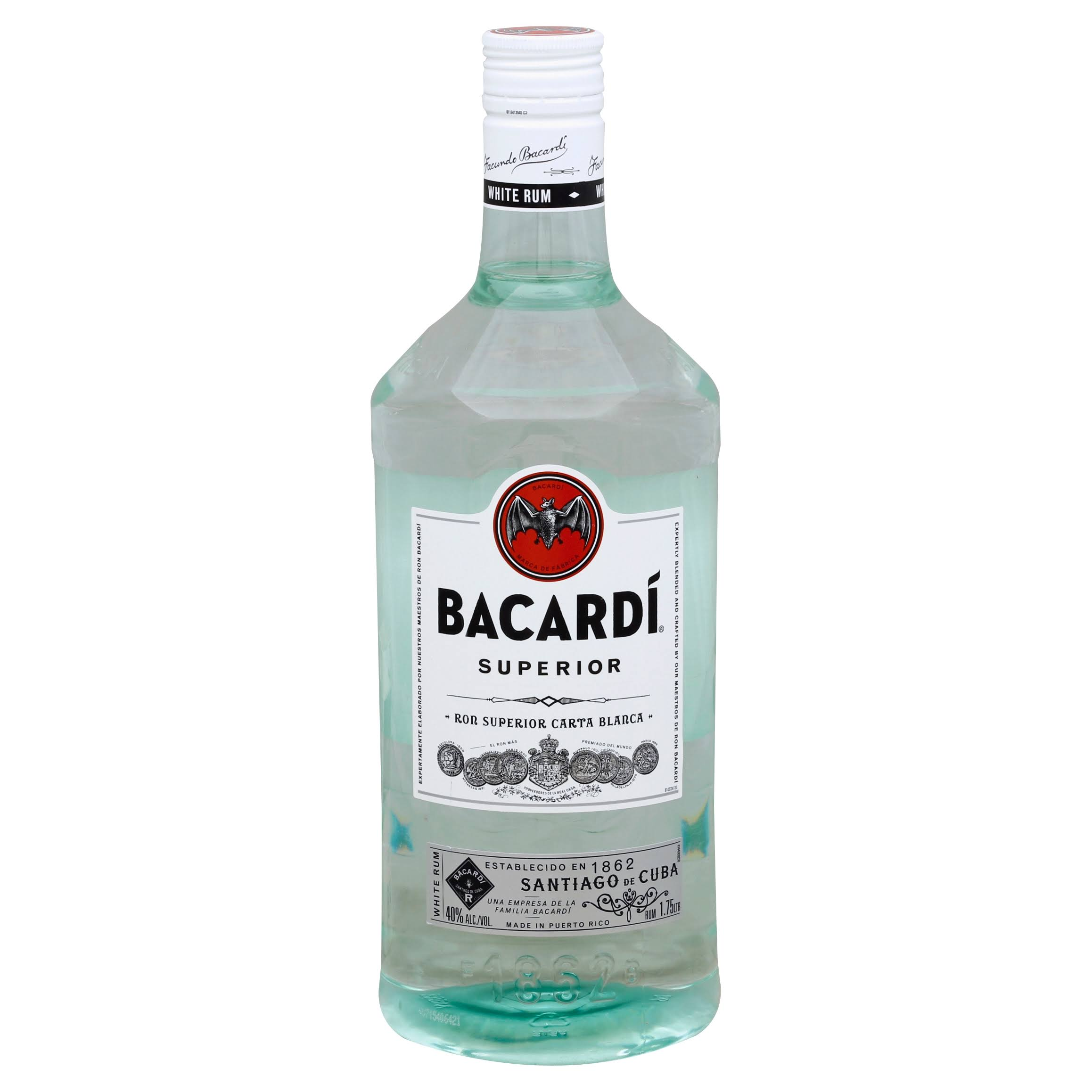 Bacardi Superior White Rum - 750 ml bottle