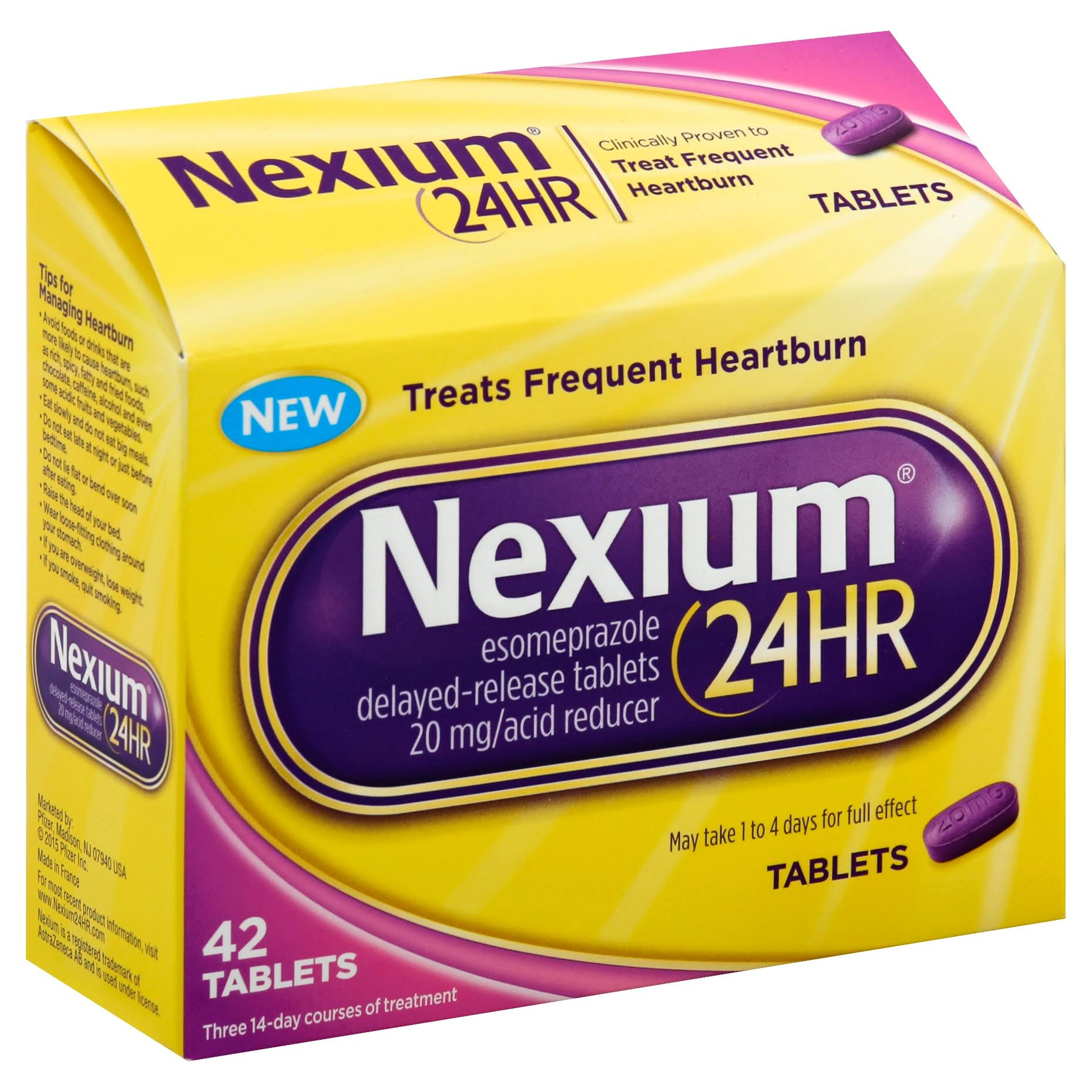 Nexium 24-Hour Esomeprazole Delayed Release Heartburn Relief - 42 Tablets