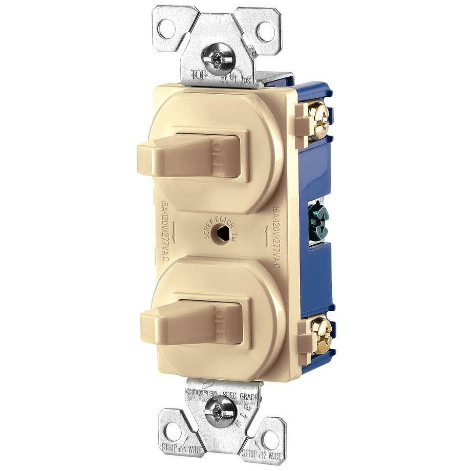 Cooper Wiring Devices Commercial Combination Switch - Ivory, 271V, 15amp