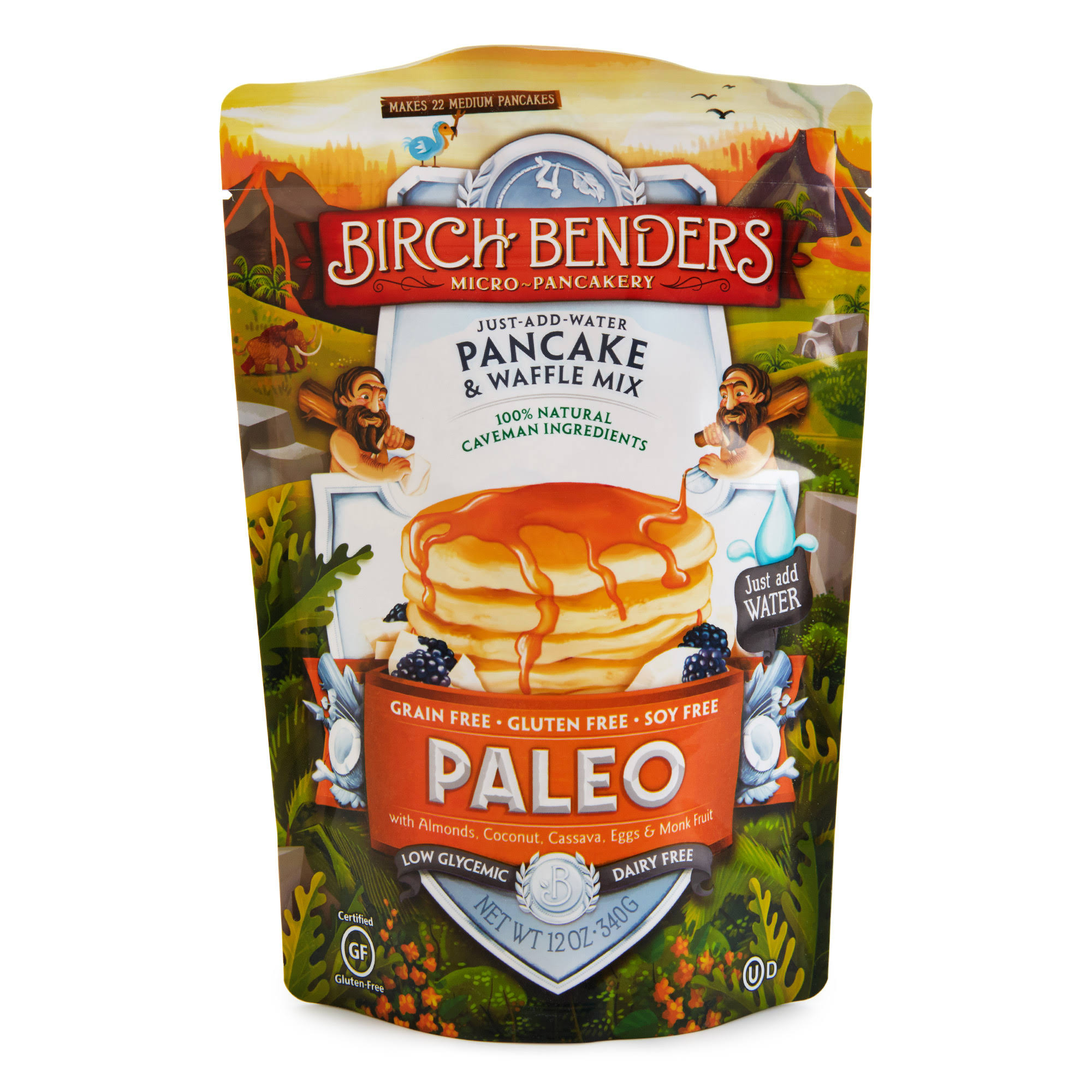Birch Benders Pancake and Waffle Mix - Paleo, Gluten and Grain Free, 12oz