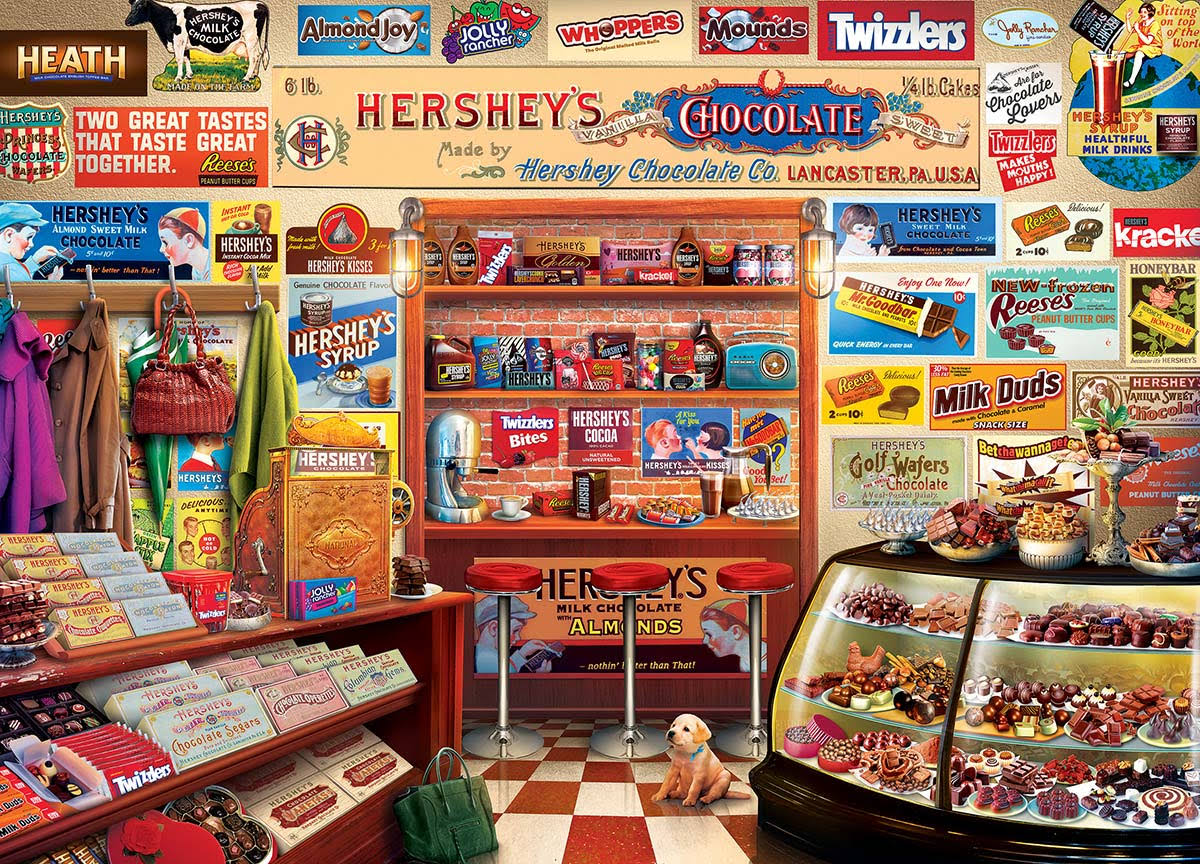 Hershey's Candy Shop 1000 Piece Jigsaw Puzzle