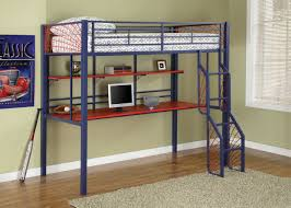 stylish metal loft bed with desk well suited metal loft bed with