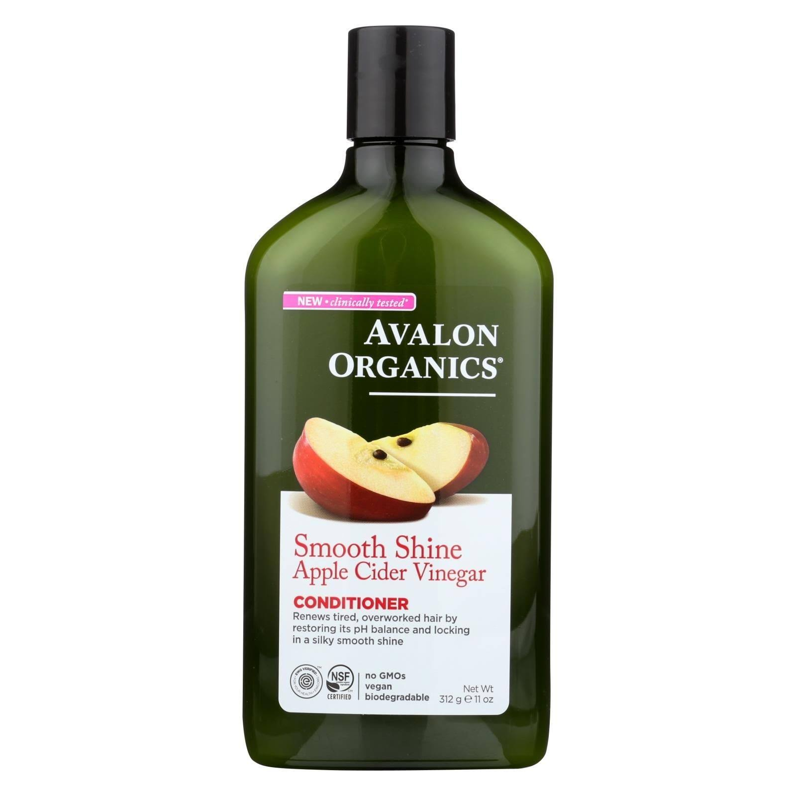 Avalon Organics Conditioner, Smooth Shine, Apple Cider Vinegar - 312 g