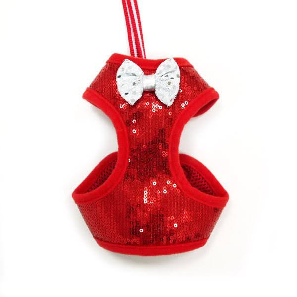 EasyGo Sequins Dog Harness by Dogo - Red - X-Small