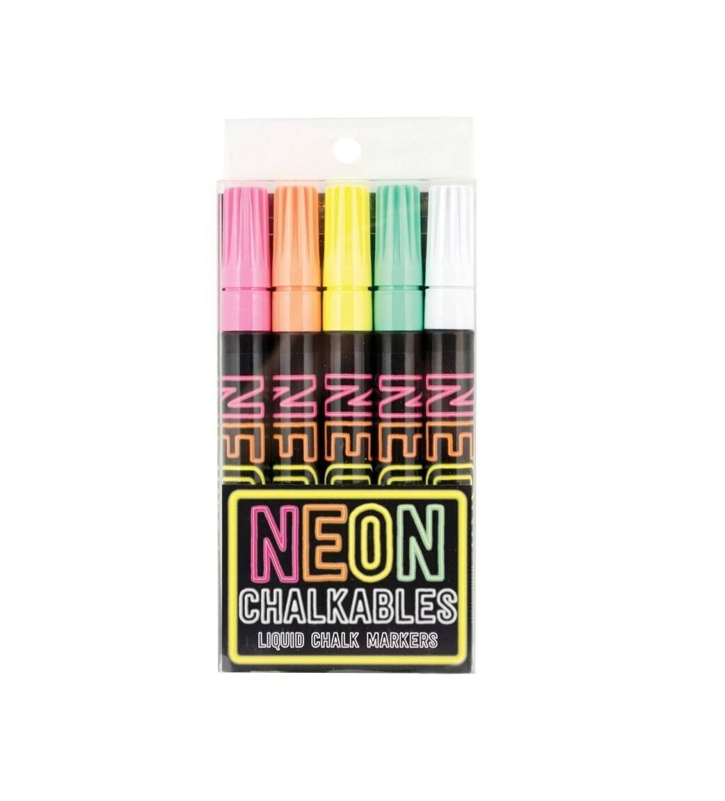 Ooly Neon Chalkables Liquid Chalk Markers - Set of 5