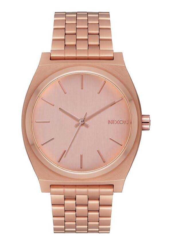 Nixon A045897 Time Teller Unisex Watch - Rose Gold