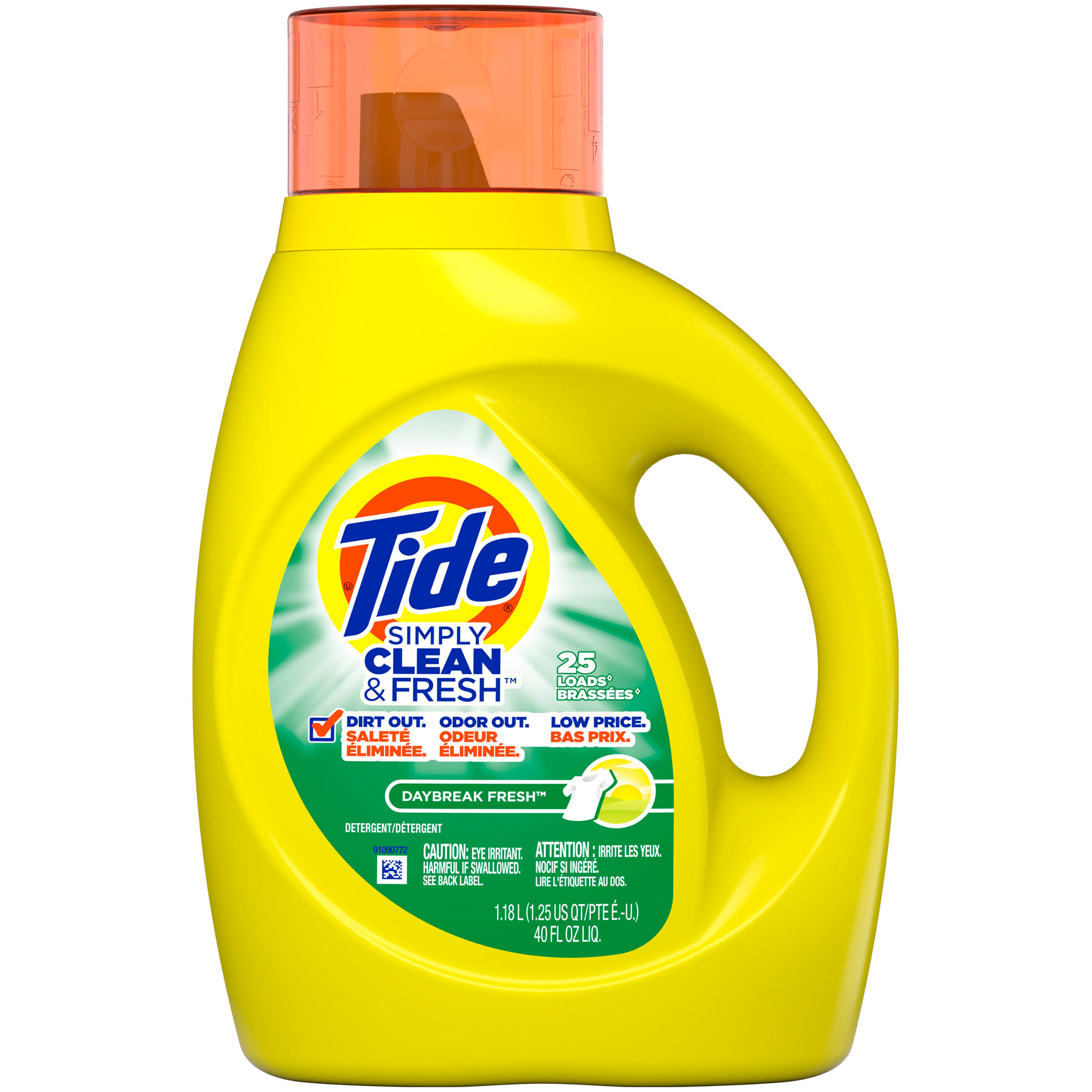 Tide Simply Clean & Fresh Detergent - Daybreak Fresh, 40 fl oz, 25 Loads