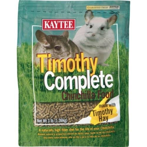 Kaytee Timothy Complete Chinchilla Diet Food - 3lbs