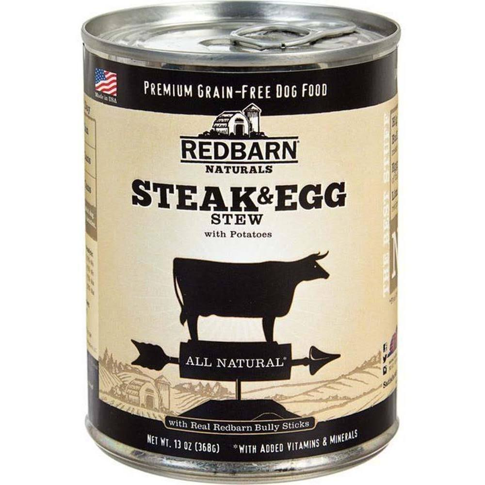Redbarn All Natural Steak & Egg Stew Canned Dog Food, 13 oz.