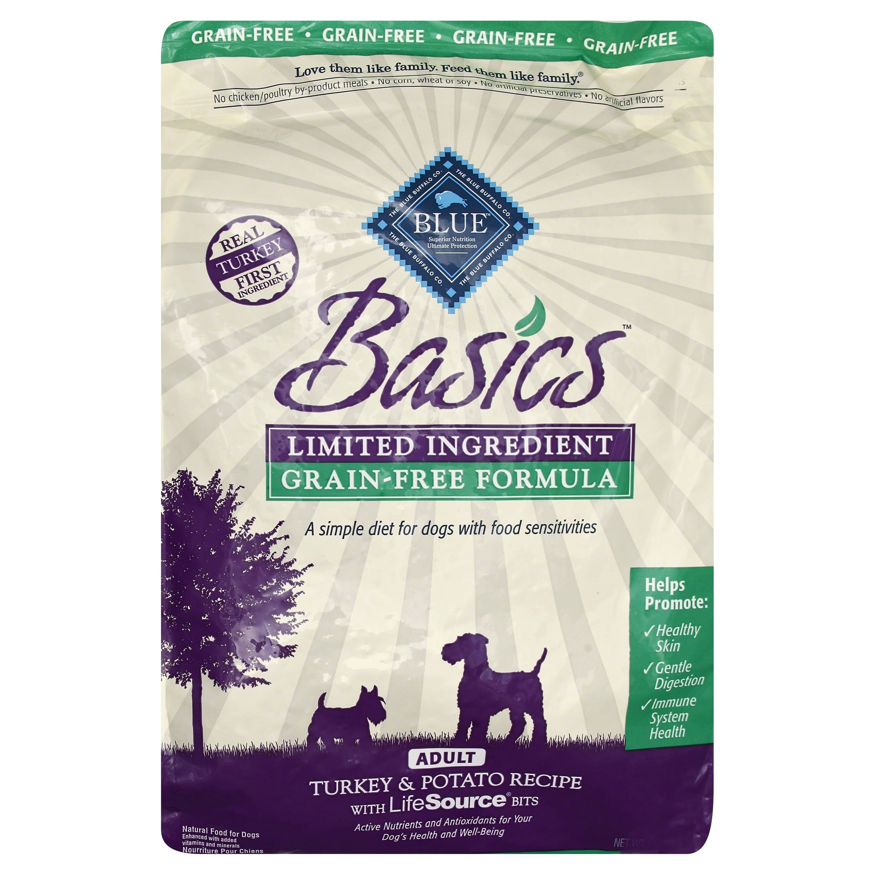 Blue Buffalo Basics Adult Dry Dog Food - Turkey & Potato Recipe, 11lb