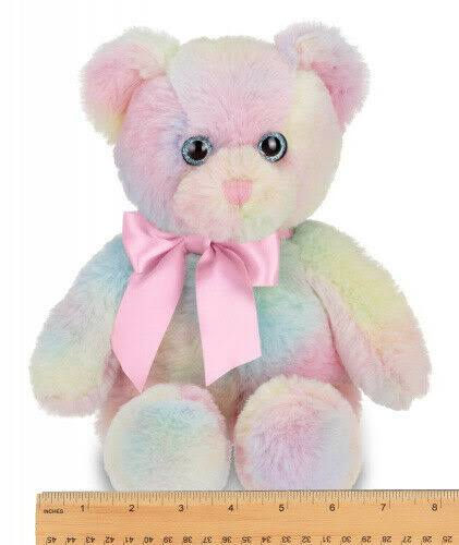 Bearington Candi Rainbow Plush Stuffed Animal Teddy Bear, 12 Inches