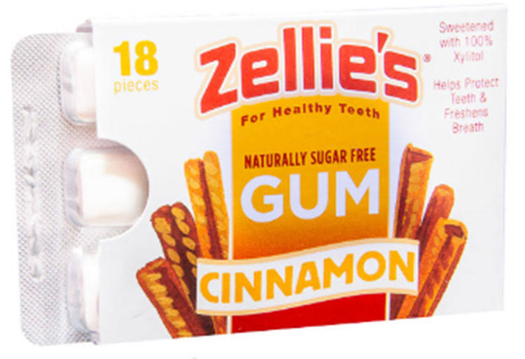 Zellies Gum, Cinnamon - 18 pieces, 0.85 oz