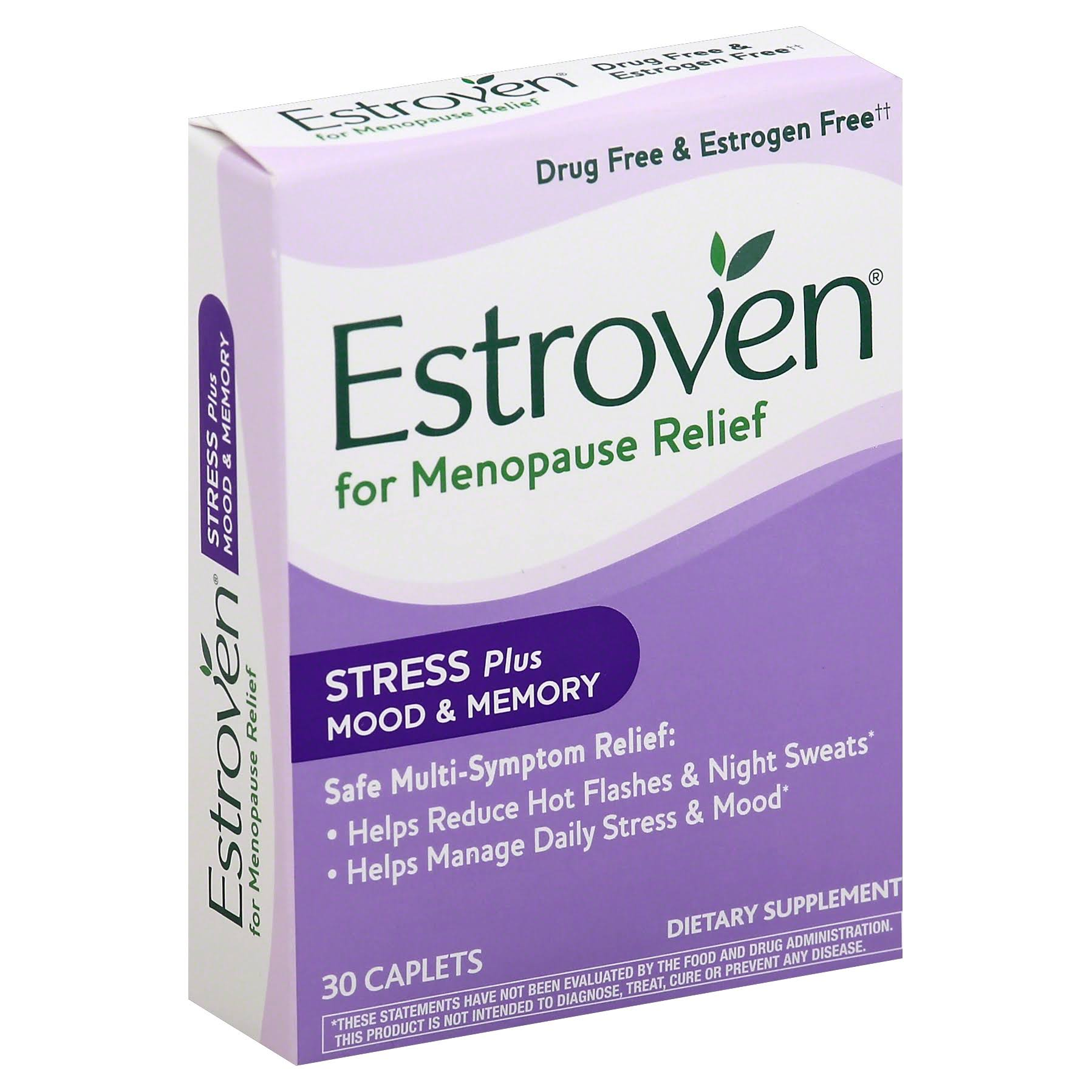 Estroven Stress Plus Menopause Relief Supplement - 30 Count