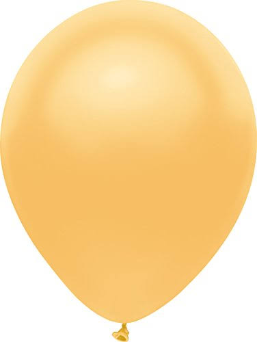 PartyMate Round Solid Color Latex Balloons - Radiant Gold, 12""