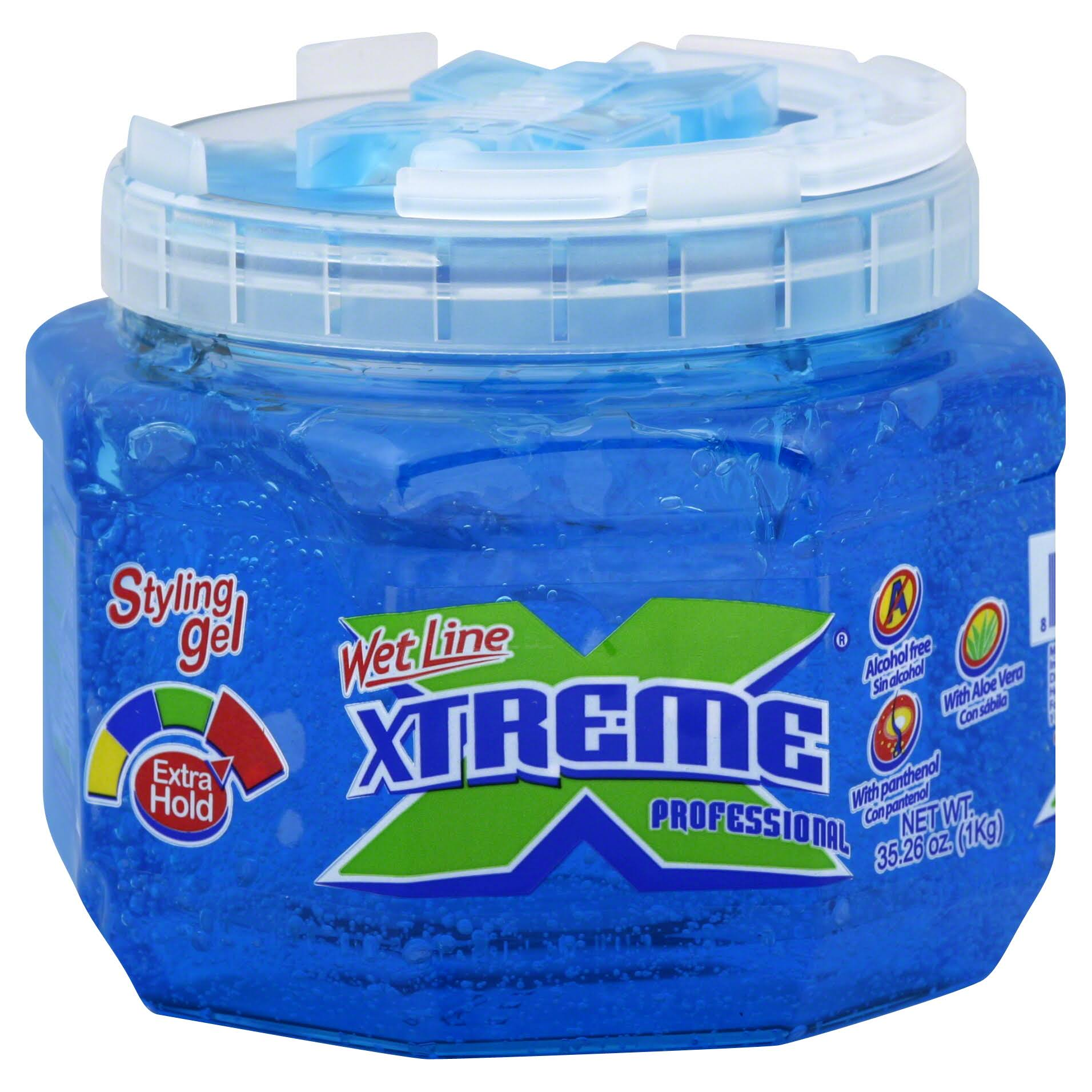 Wet Line Xtreme Professional Styling Gel - Extra Hold, Blue, 35.26oz