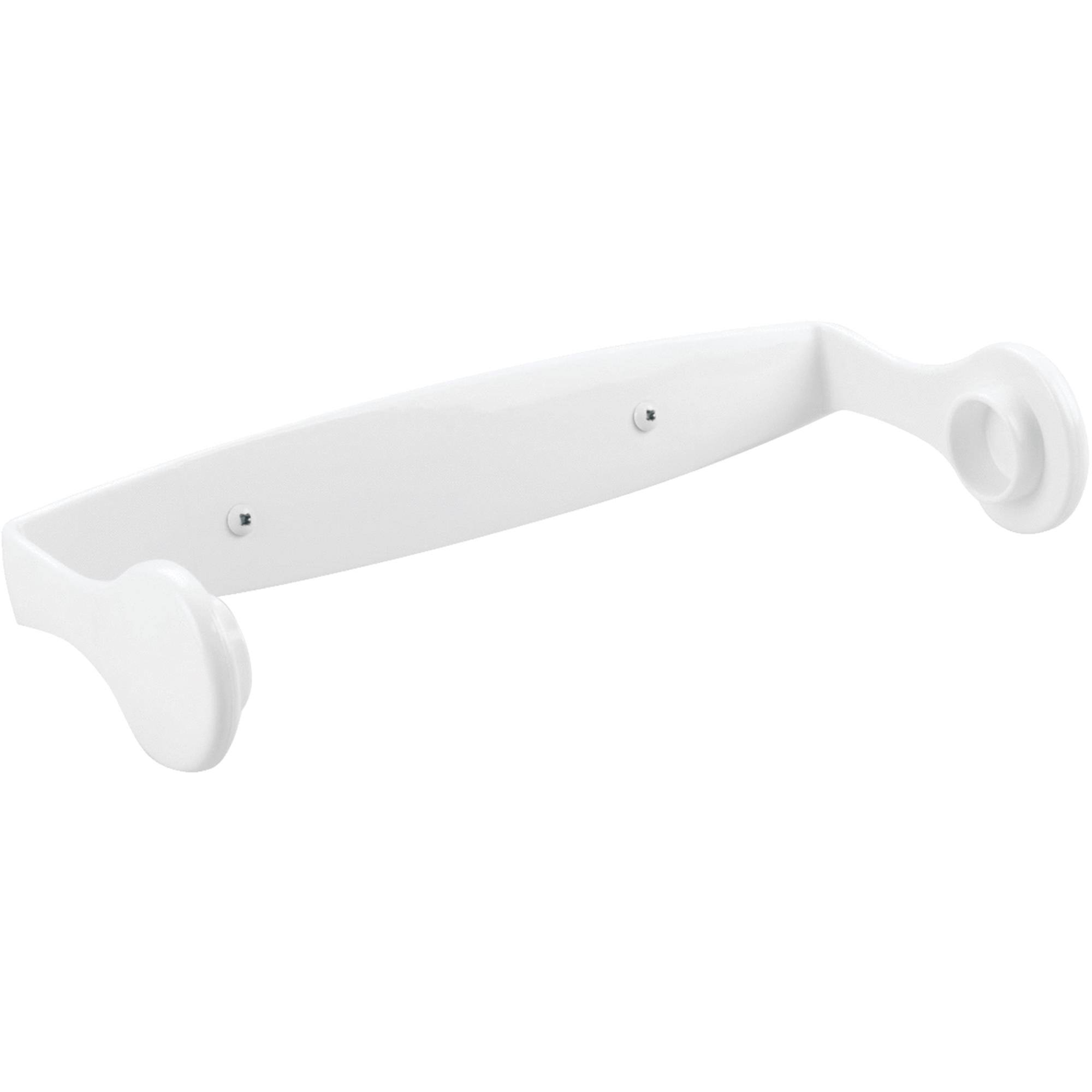 Interdesign 48541 Clarity Wall Mount Paper Towel Holder, White