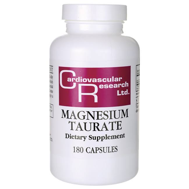 Cardiovascular Research Magnesium Taurate Dietary Supplement - 180 Capsules