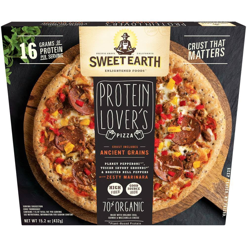 Sweet Earth Natural Protein Lovers Frozen Pizza - 15oz
