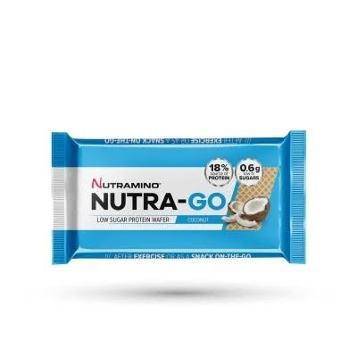 Nutramino Nutra-Go Low Sugar Protein Wafer - Coconut, 2 x 19.5g