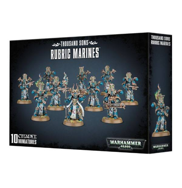 Warhammer 40K Thousand Sons Rubric Marines - 10 miniatures