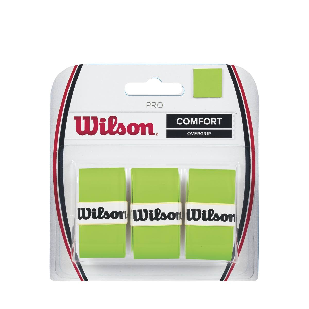 Wilson Pro Overgrip Comfort Badminton Racket Tape - Green, 3pk