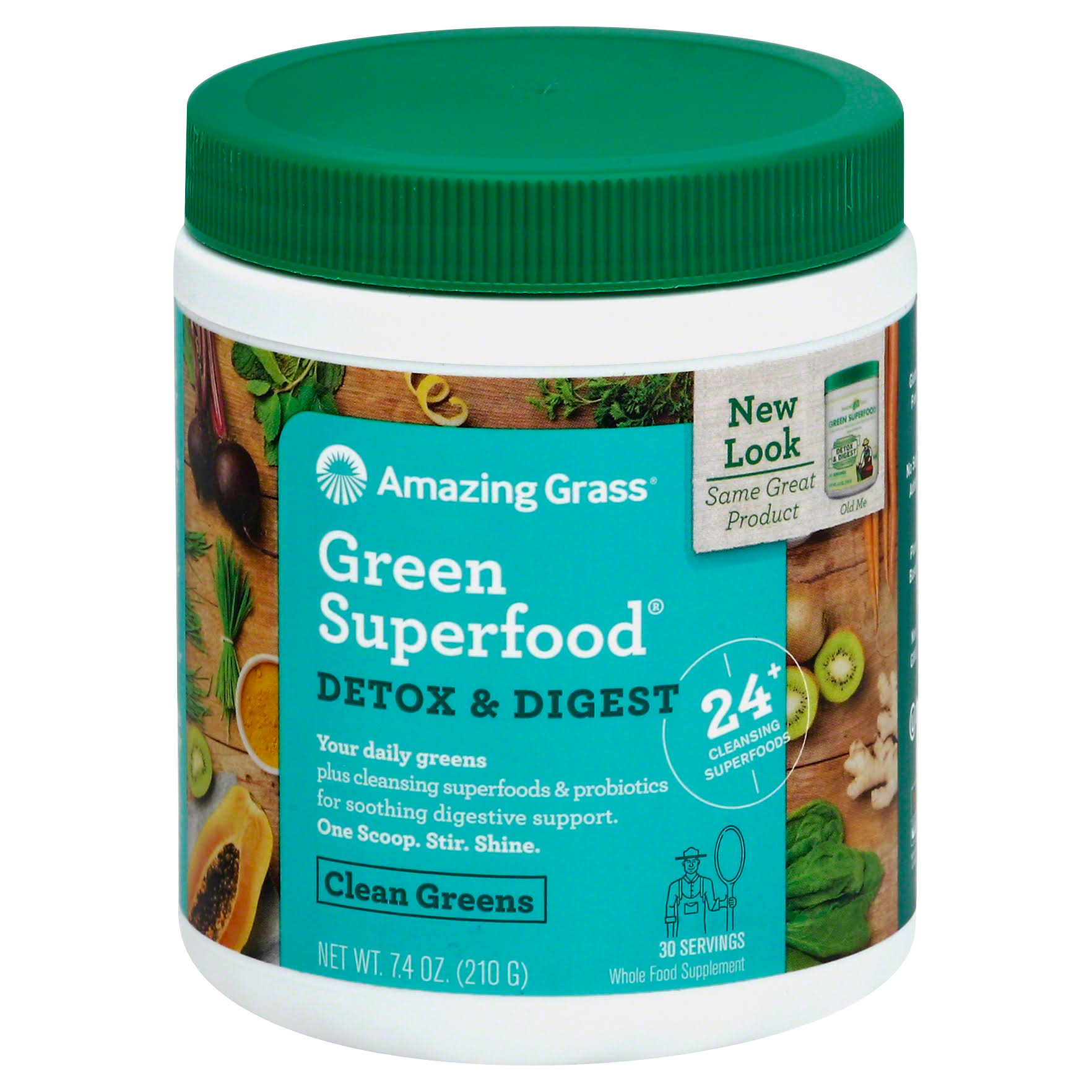 Amazing Grass Detox & Digest Green Superfood - 7.4 Ounce