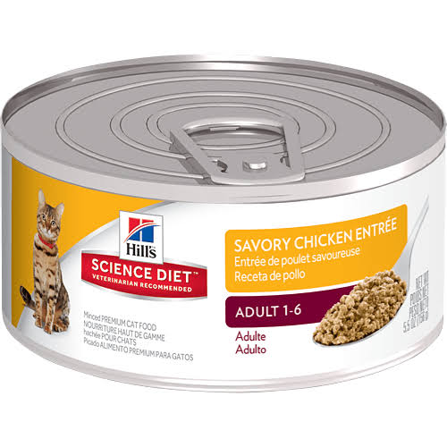 Hill's Science Diet Savory Chicken Entrée Minced Premium Cat Food - 5.5oz