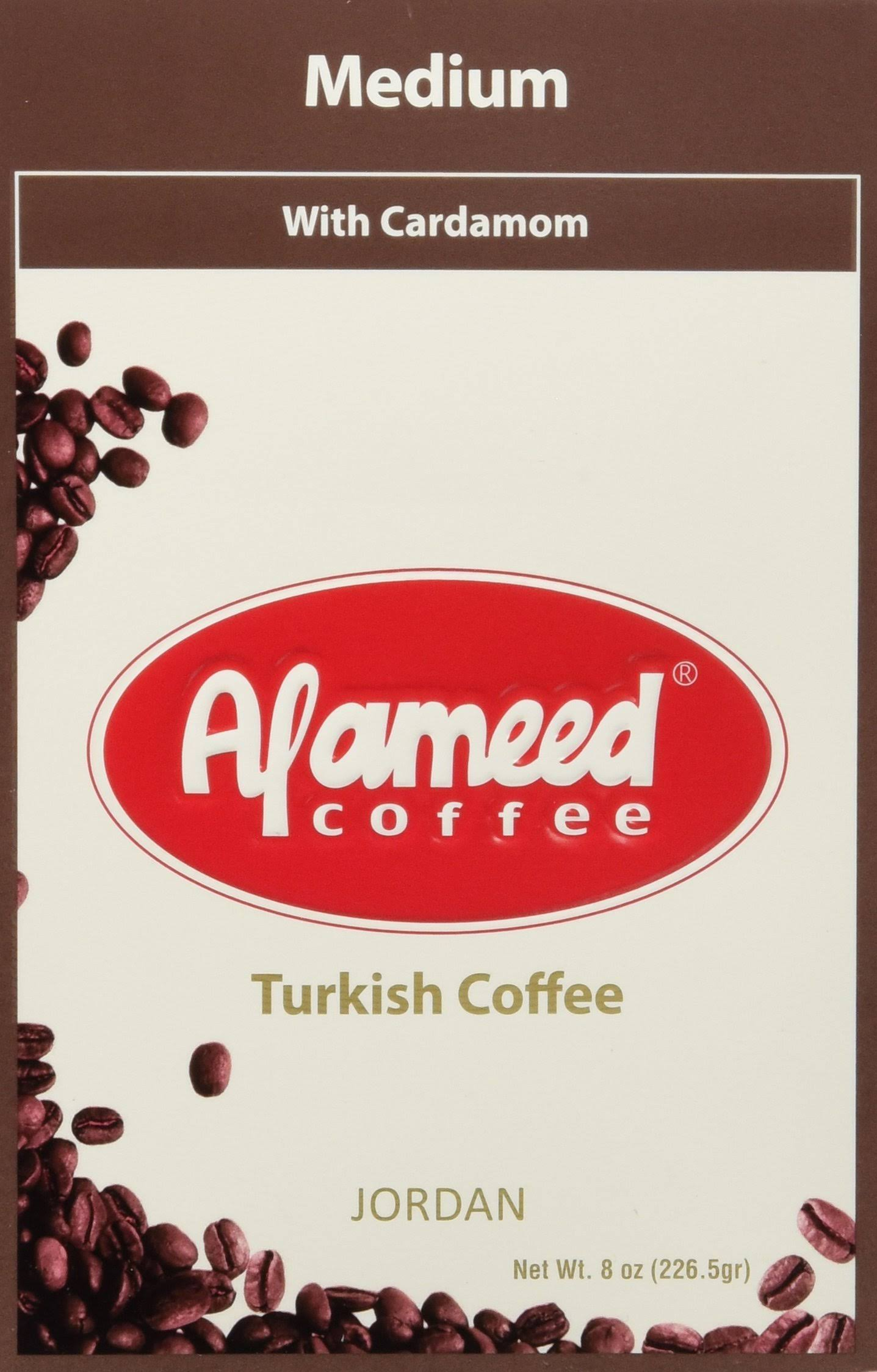 Alameed Coffee with Cardamom - Medium Roast, 0.5lb