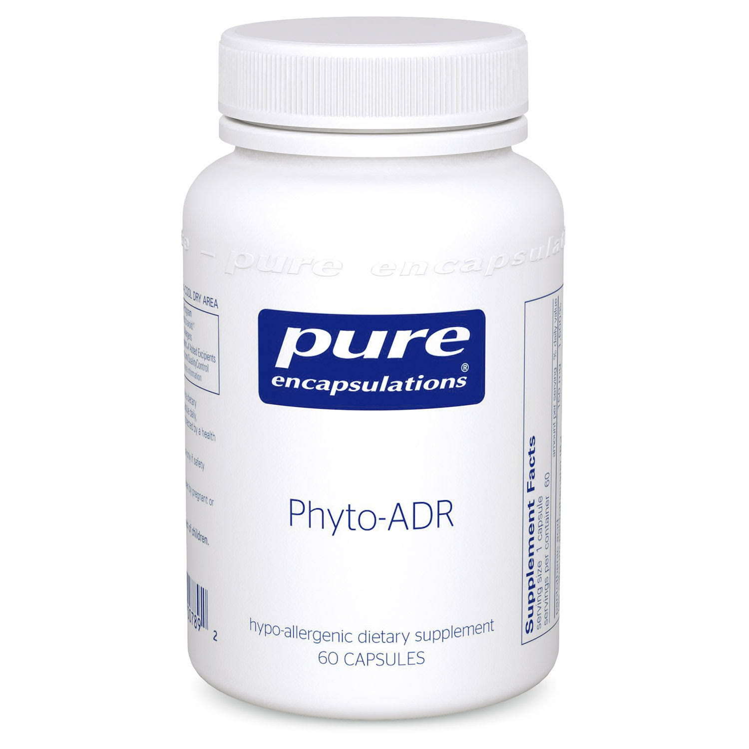 Pure Encapsulations Phyto-ADR Hypoallergenic Adrenal Supplement - 60 Capsules