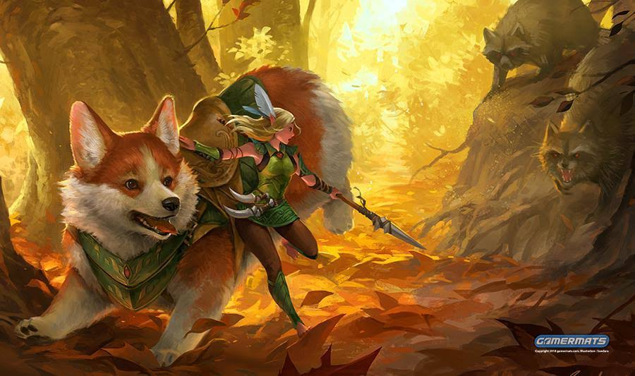 Gamermats - Corgi and Elf by sandara