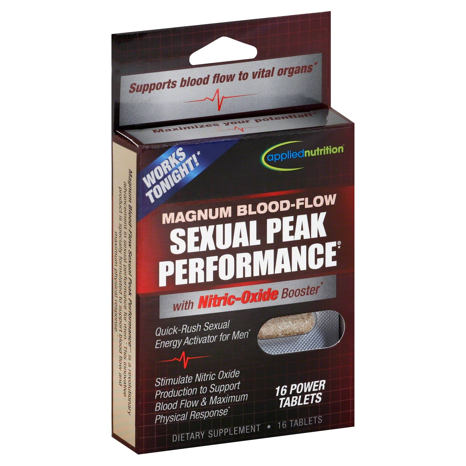 Applied Nutrition Magnum Blood-Flow Sexual Peak Performance Supplement - 16 Power Tablets