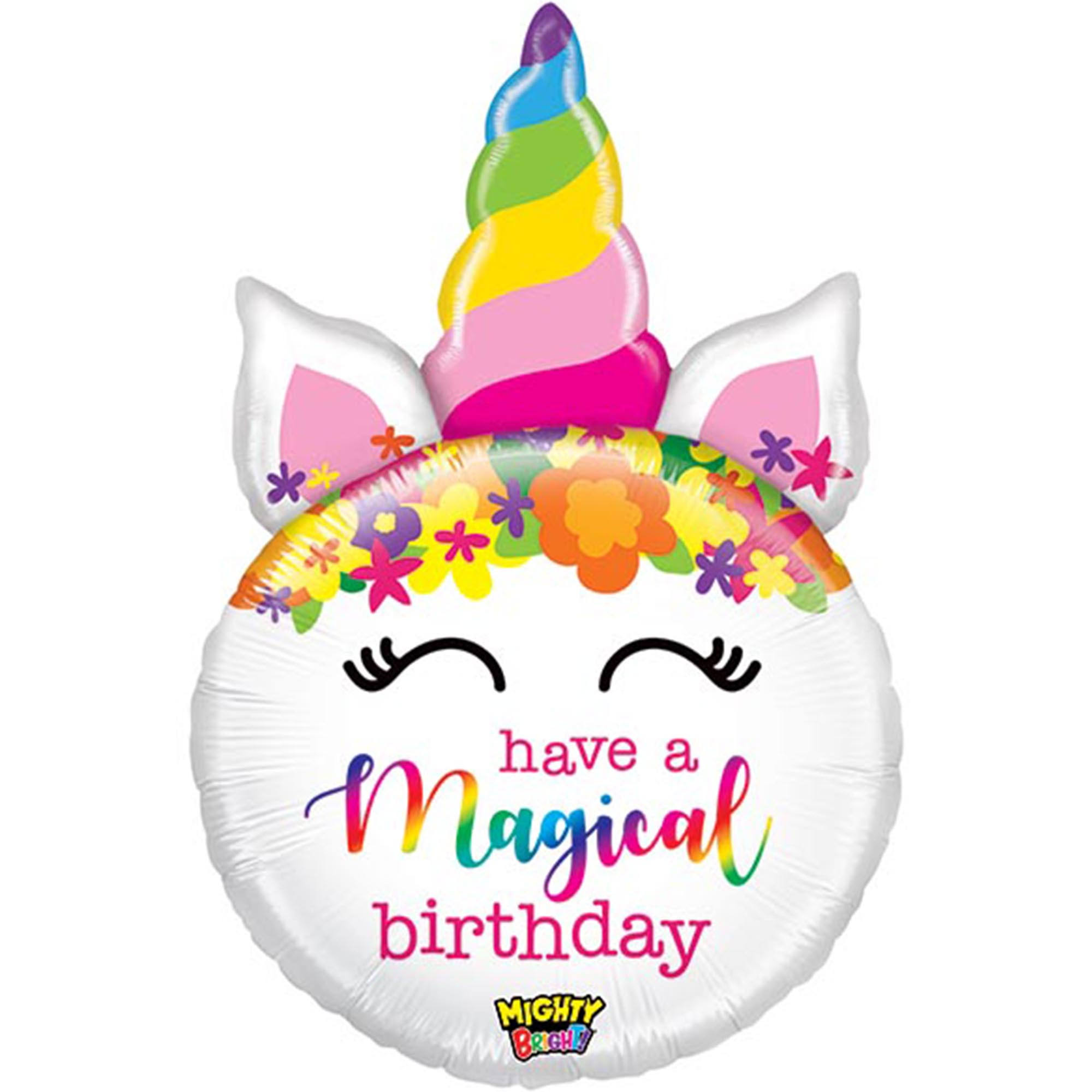 Betallic Unicorn Birthday Balloon - 80cm