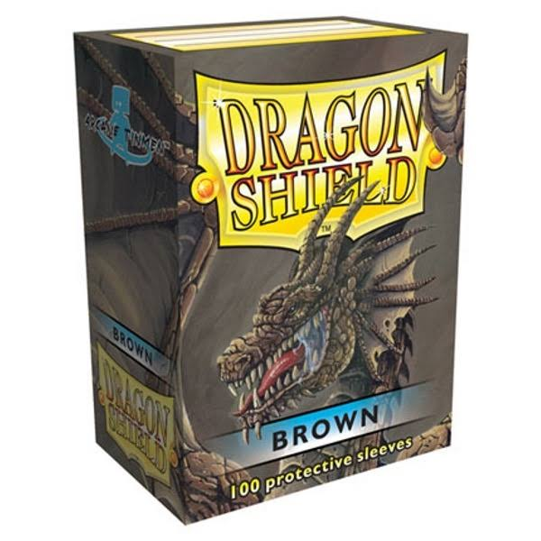 Dragon Shield Protective Card Sleeve - Brown, 100 Pack