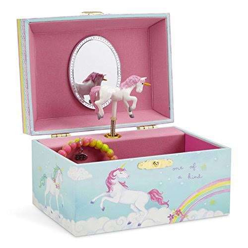 JewelKeeper Girl's Musical Jewelry Storage Box - Spinning Unicorn